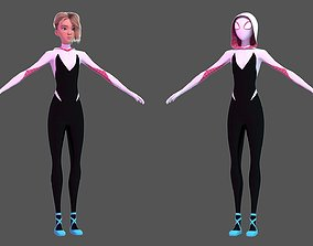 Gwen Stacy - Into the Spider-Verse Suit Version 3D model
