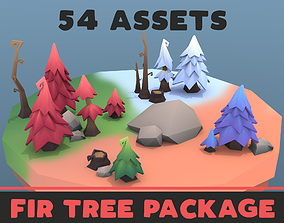 3D asset Low poly tree package