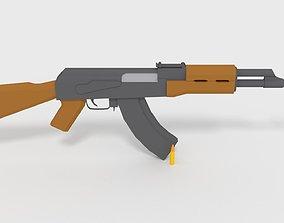 3D asset Low-Poly AK-47 GameReady