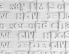 3D print model wall letters