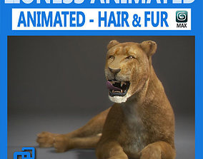 Animated Lioness 3D