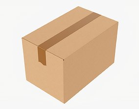 Box sealed with packing tape mockup 01 3D model