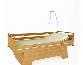 3D model Modern Wooden Hospital Bed