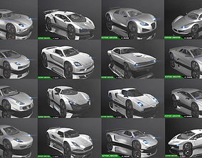 PBR Low-Poly Racing Car Collection Pack 3D