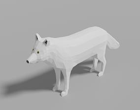 3D model Cartoon Polar Wolf