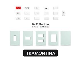 Tramontina Liz Collection Slate Green 3D model
