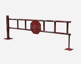 3D model game-ready Road Block Gate