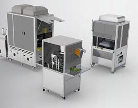 Combination of laminating machine 3D model