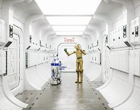 3D model Corridor Interior Scene