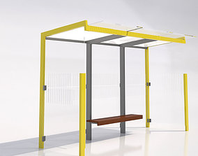 3D model MMCite 310a Bus Shelter
