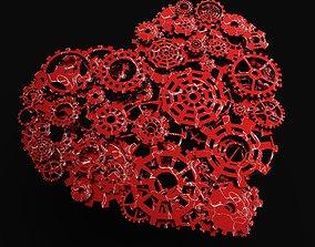 3D model Heart Gears
