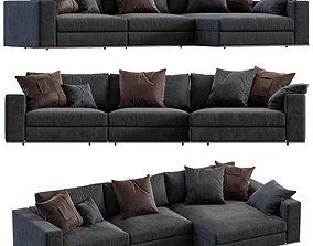 Minotti Hamilton Angle Sofa 3D model