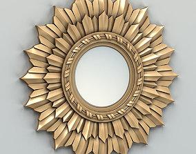 3D model Round mirror frame 005