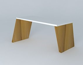Wooden slanted archway 3D