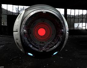 Vortex Orb Robot F01 3D asset game-ready