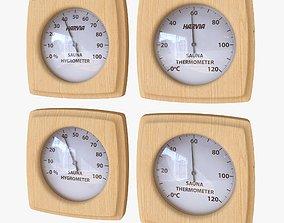 3D model Thermometer - Hygrometer Sauna
