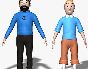 3D model Tintin Haddock