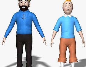 3D model Tintin Haddock