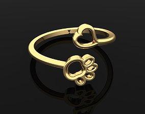 3D printable model Ring 21 Paw animal