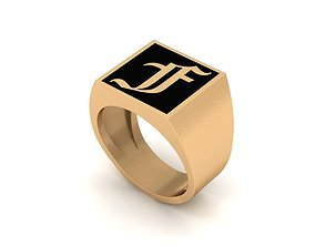 Old English Letter Ring F 3D printable model