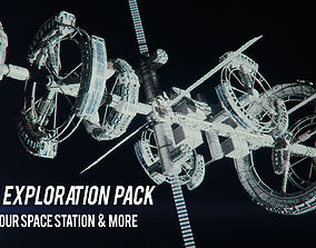 spacestation Space exploration 3D pack