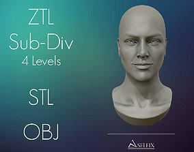 3D print model Female Head for sculpting