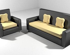 Sofa Set - Type 1 3D model