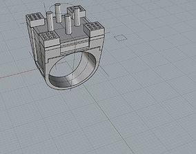 CASTLE RING 3D print model