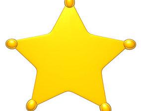 Sheriff star 3D