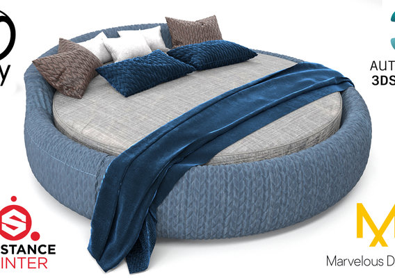 Round Bed 3D model
