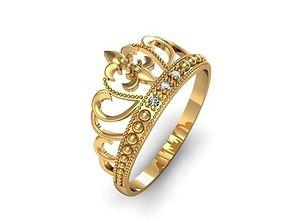 3D print model wedding Ring crown