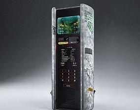 Cyberpunk Public Phone Terminal 3D model
