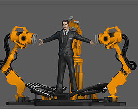 3D printable model IRONMAN GANTRY TONY STARK SET STATUE 3