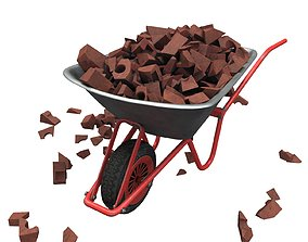 Wheelbarrow loaded 3D model