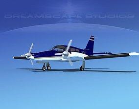 3D Piper PA-34 Seneca V06