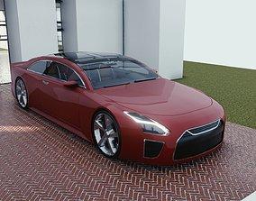 BLENDER EEVEE Brandless Extended Wheelbase 2 3D model 2