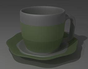 3D model of a tea Cup VR / AR ready
