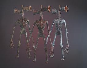 Siren Head 3D model animated