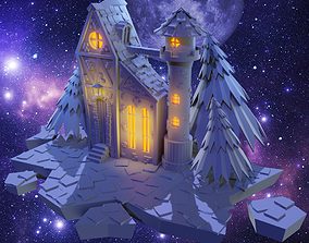 House 3D model low-poly fantasy