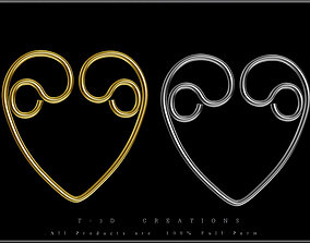Heart Wire 03 3D asset