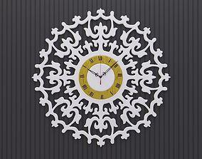 Ancient Romance Wall Clock 3D model