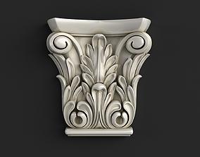 Carved corbel 3D model