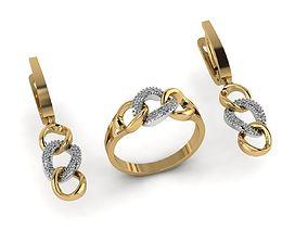 ring earring jewelry 3D print model