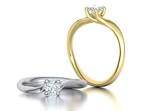 Paradise Solitaire ring Own design 3dmodel