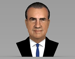 Richard Nixon bust ready for full color 3D