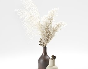 Pampas Grass Bouquet 05 3D model bellgum