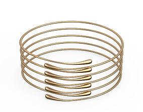 3D model Gold Bracelet Waterdrop design