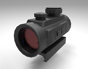 3D model Red Dot - CQB Sight - Weapon Attachment - PBR