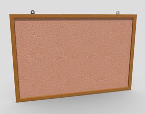3D asset Corkboard
