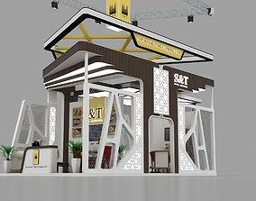 4x8 Meter Exhibition Stand 3D